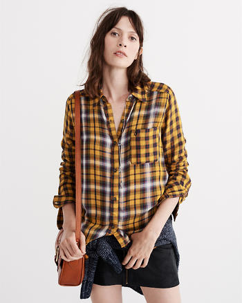 ANF Mixed Plaid Shirt