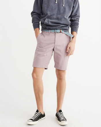 ANF Plainfront Stretch Shorts