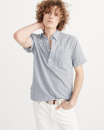 ANF Short Sleeve Popover Shirt