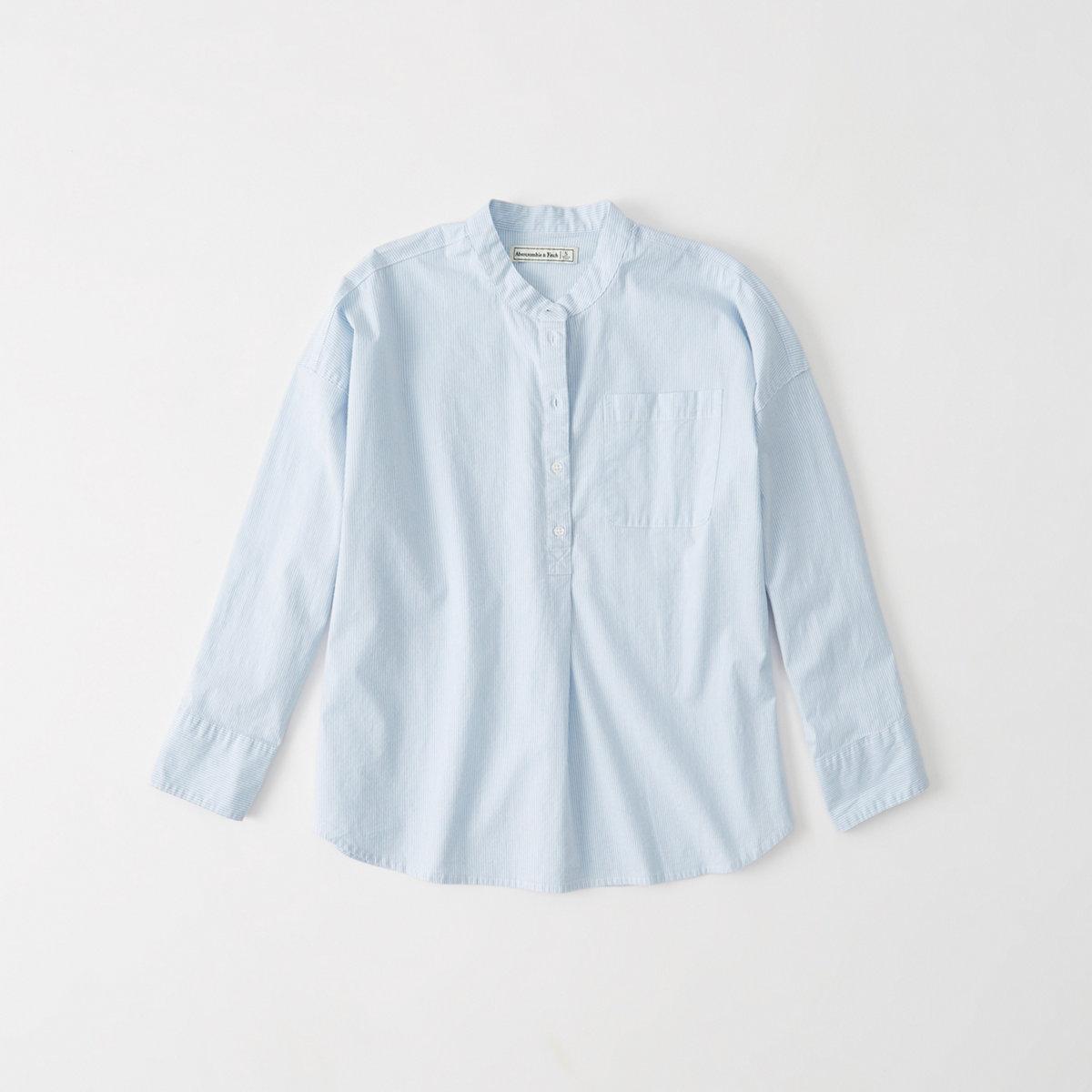 Relaxed Sleeve Poplin Shirt