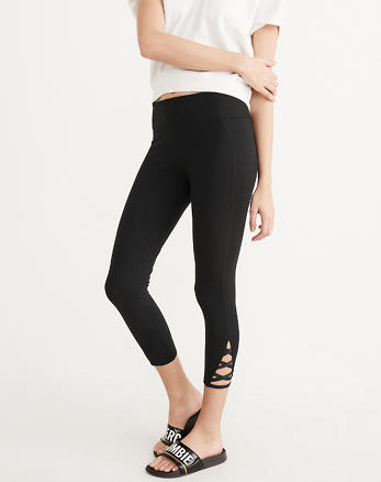 ANF Active Capri Cutout Leggings