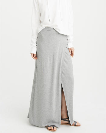 ANF Knit Wrap Maxi Skirt