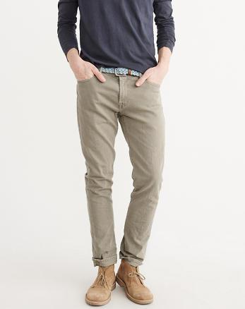 ANF Khaki Slim Jeans