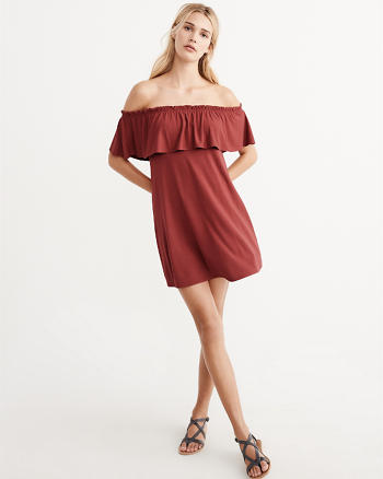 ANF Off-The-Shoulder Knit Dress