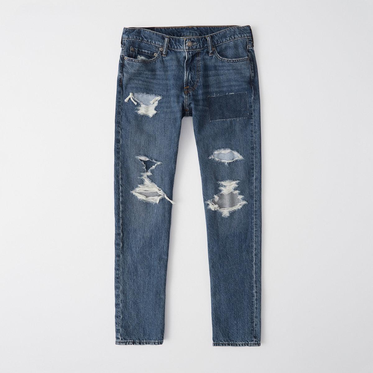 Ripped Bandana Slim Jeans
