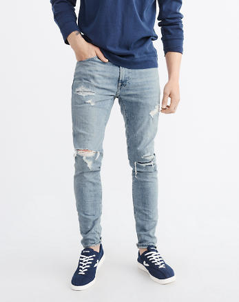 ANF Ripped Super Slim Jeans