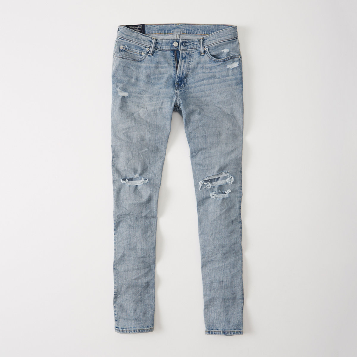 Ripped Athletic Slim Jeans