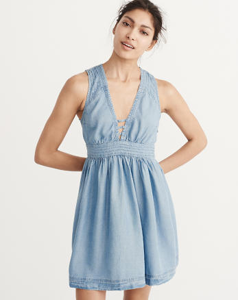 ANF Denim Babydoll Dress