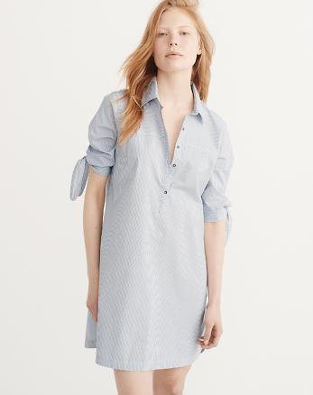 ANF Tie Sleeve Shirtdress