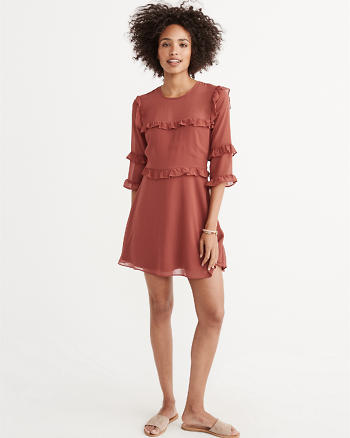 ANF Chiffon Ruffle Dress