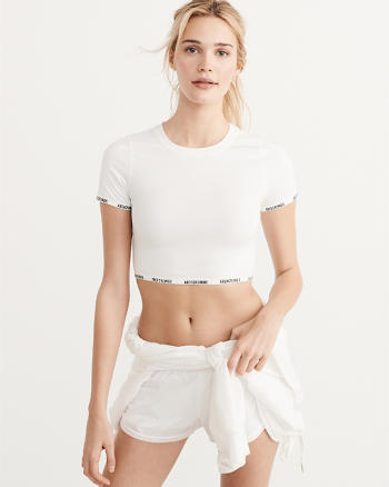 ANF Active Cropped Tee