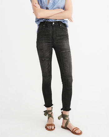 ANF High Rise Super Skinny Ankle Jeans