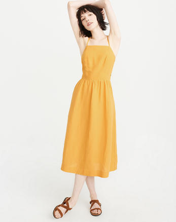 ANF Square-Neck Midi Dress