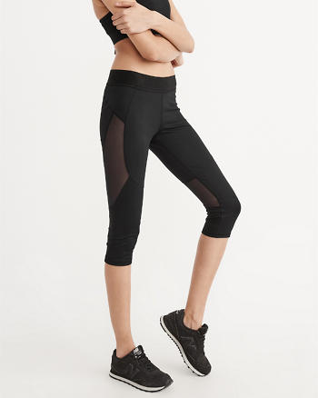 ANF Active Cropped Mesh Leggings