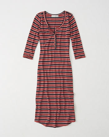 ANF Henley Midi Dress