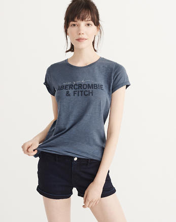 ANF Embroidered Logo Tee