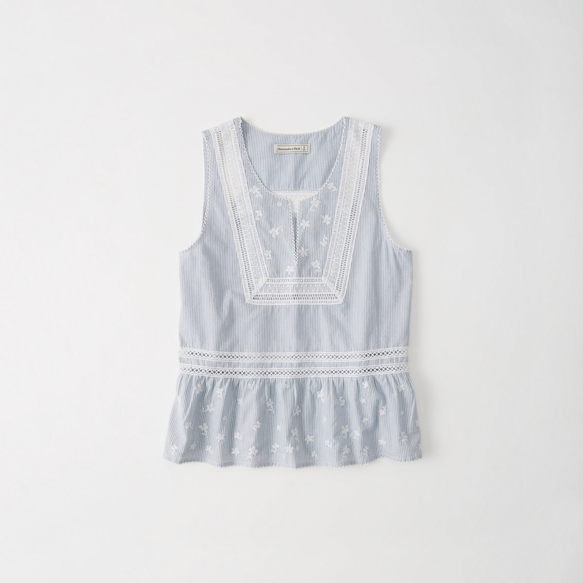 Embroidered Shell Tank