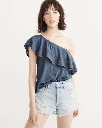 ANF Ruffle One-Shoulder Top