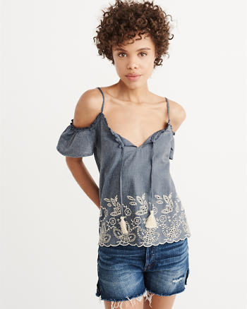 ANF Cold-Shoulder Top