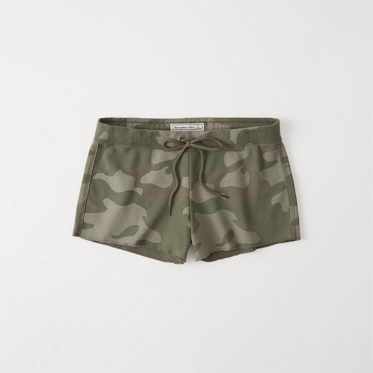 Printed Tie-Waist Shorts