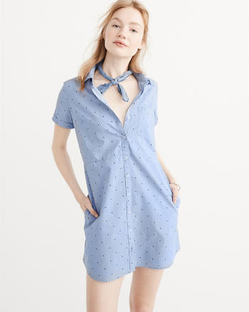 ANF Short Sleeve Shirtdress