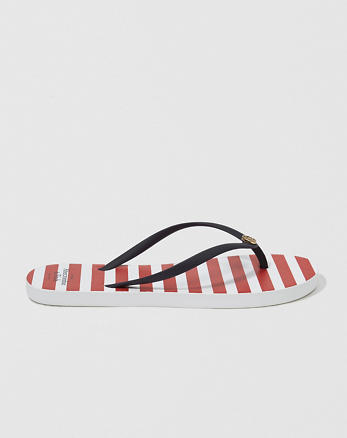 ANF Striped Rubber Flip Flop