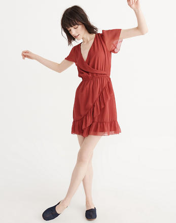 ANF Ruffle Wrap Dress