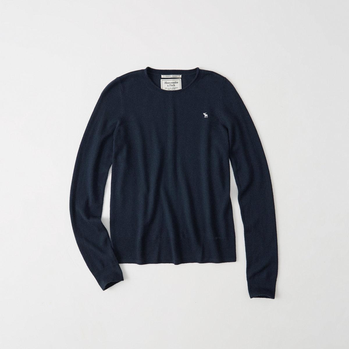 Cashmere Silk Crew Sweater