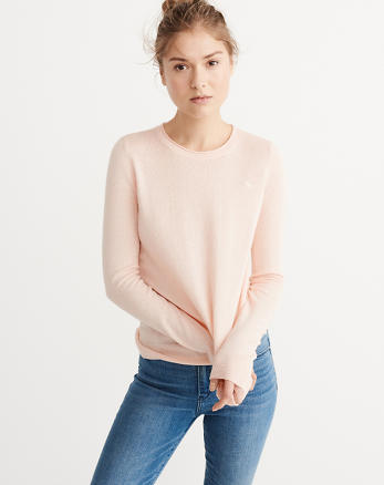 ANF Cashmere Silk Crew Sweater