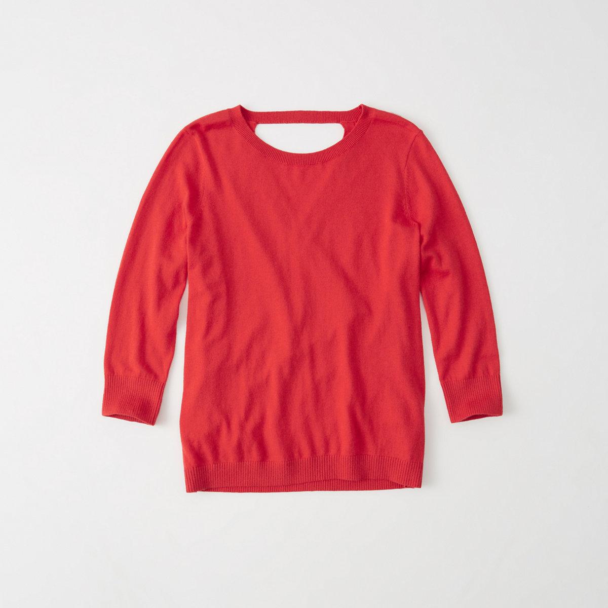 Open Back Crew Sweater