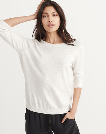 ANF Open Back Crew Sweater
