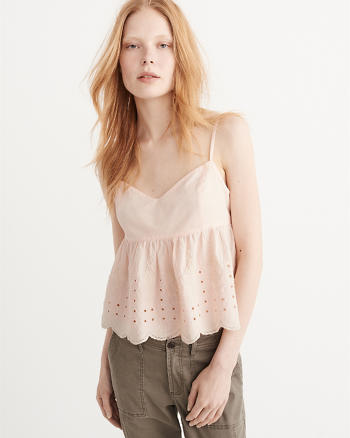 ANF Embroidered Babydoll Cami
