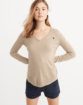 ANF Cashmere Silk V-Neck Sweater