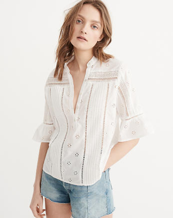 ANF Cutwork Blouse