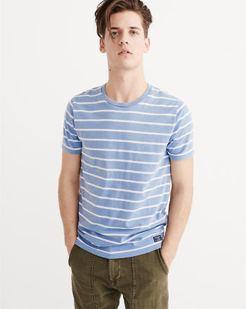 ANF Striped Burnout CrewTee