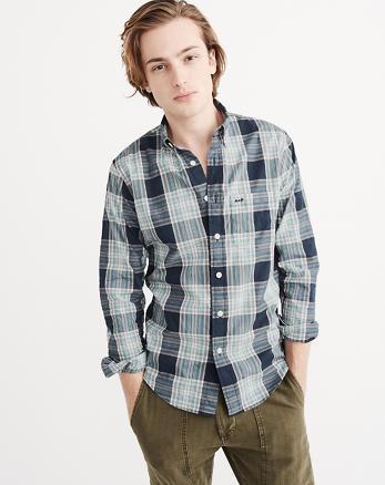 ANF Stretch Poplin Shirt