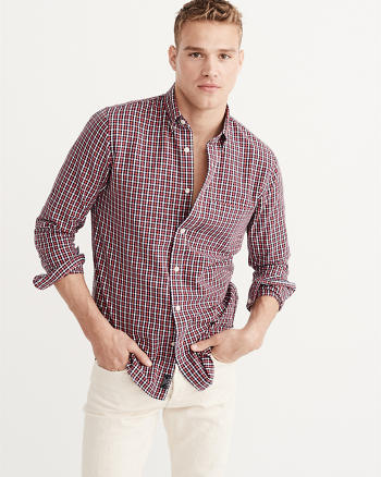 ANF Relaxed Oxford Shirt
