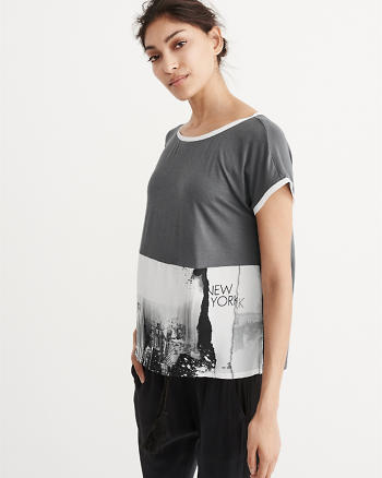 ANF Sublimated Graphic Hem Tee
