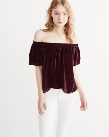 ANF Off-The-Shoulder Velvet Top