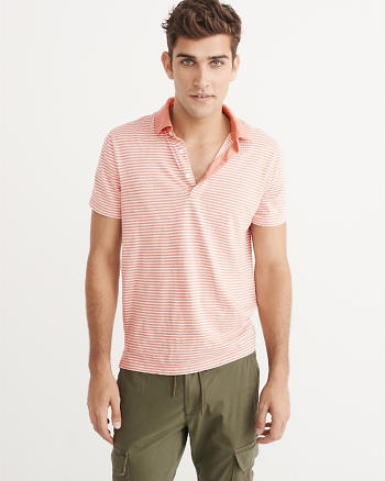 ANF Striped Jersey Polo
