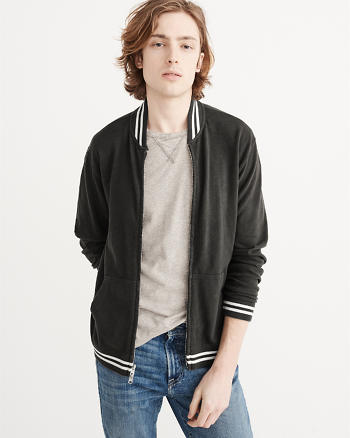 ANF Full-Zip Varsity Jacket