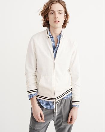 ANF Full-Zip Varsity Jacket