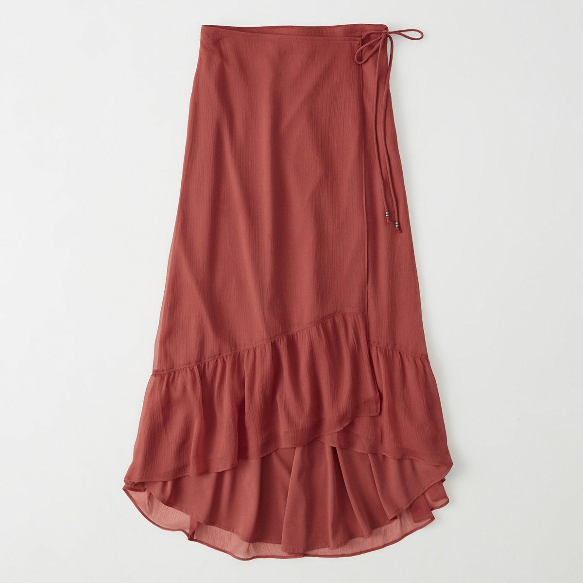 Chiffon Wrap Maxi Skirt