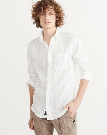 ANF Printed Linen Shirt