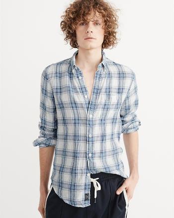 ANF Yarn Dye Linen Shirt