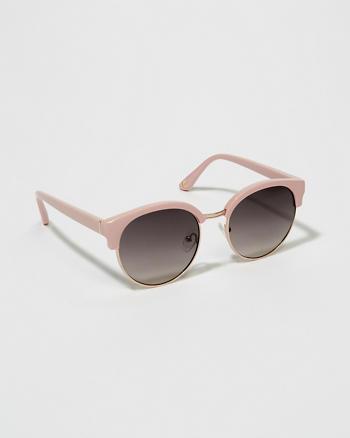 ANF Round Half-Frame Sunglasses