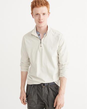 ANF Garment Dye Half-Zip Pullover