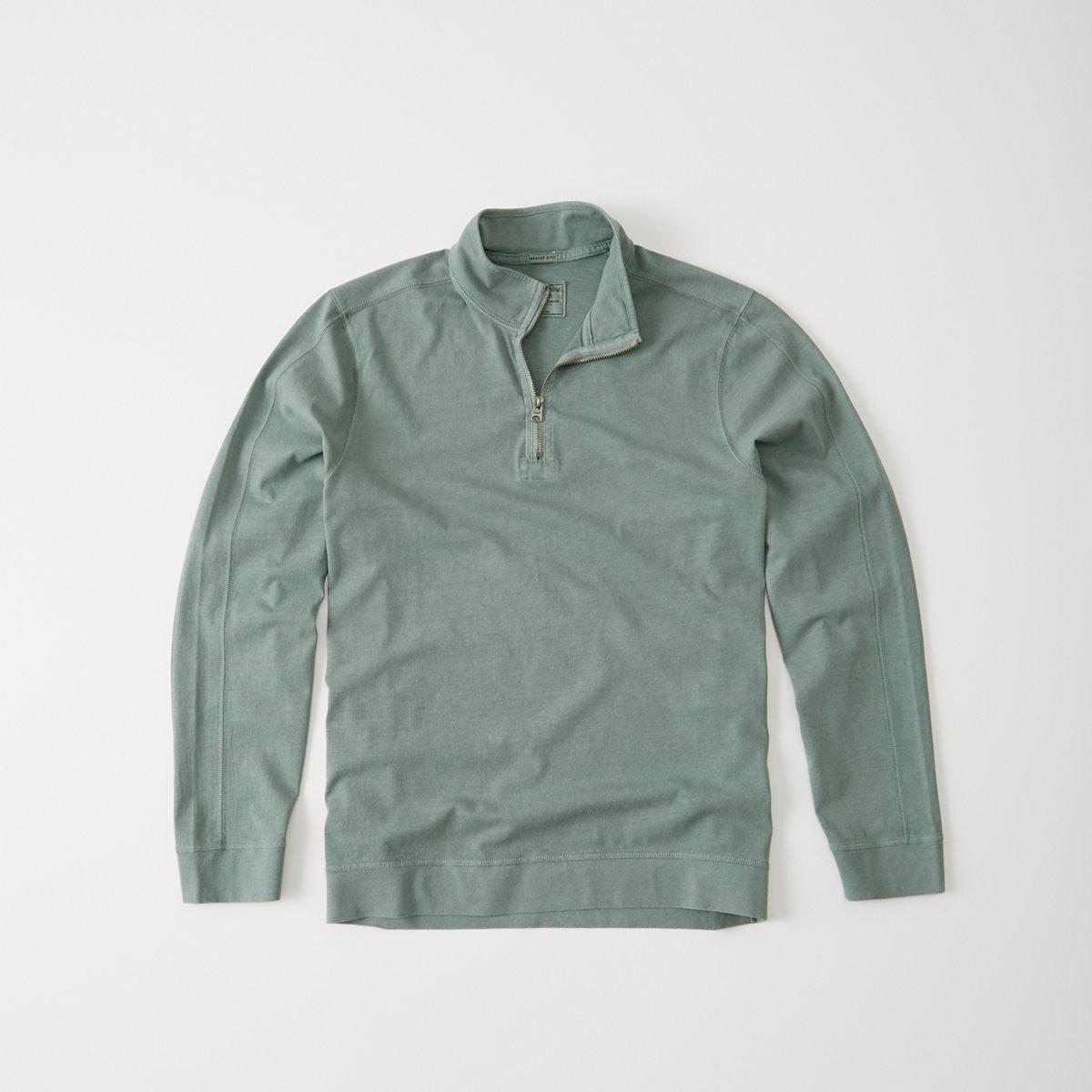 Garment Dye Half-Zip Pullover