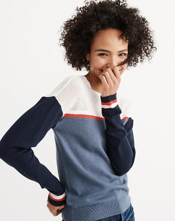 ANF Mixed Stitch Crew Sweater