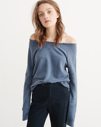 ANF Off-The-Shoulder Sweatshirt